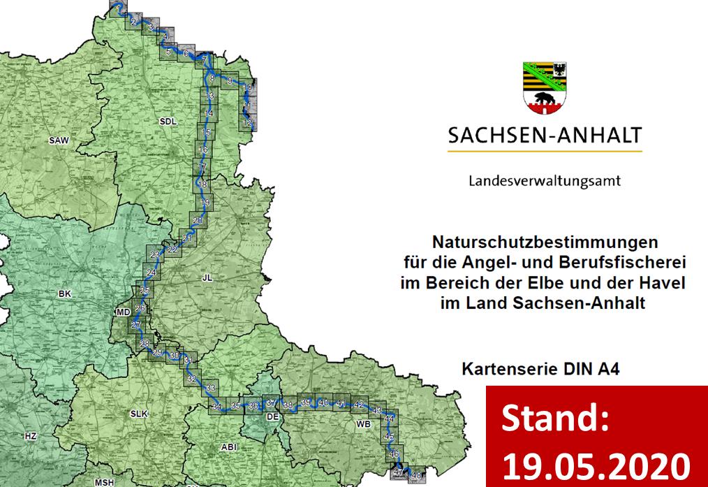 Kartenserie - Elbe und Havel in Sachsen-Anhalt