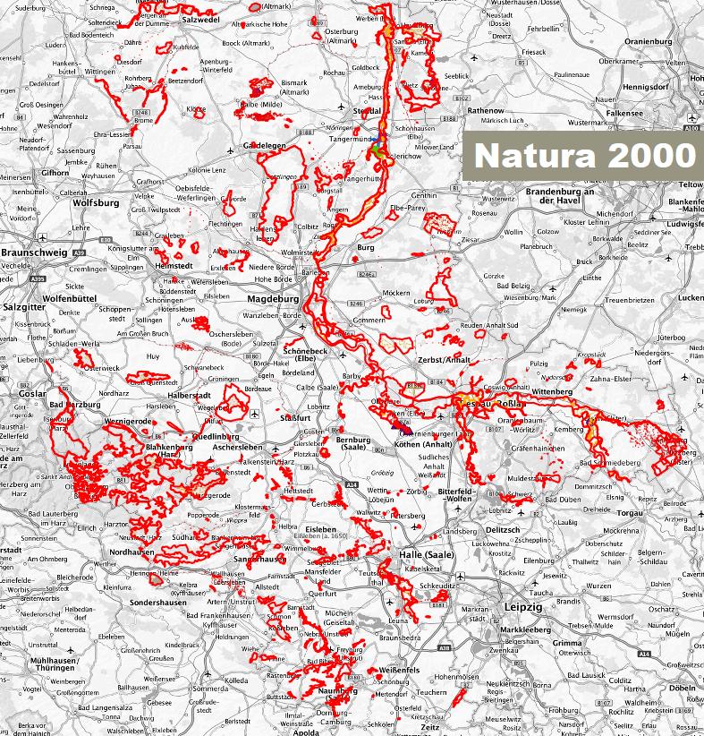 Karte Sachsen Anhalt.Schutzgebiete Interaktive Karte Interaktive Karte Der Natura